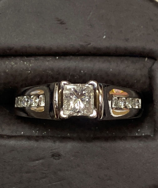 Picture of Princess Cut Diamond Engagement Ring