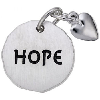 Picture of Hope Tag with Heart