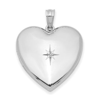 Picture of Diamond Star Heart Locket