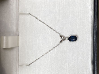Picture of Blue Black Sapphire Necklace