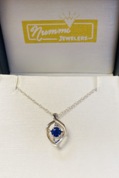 Picture of Teardrop Dancing September Birthstone Necklace