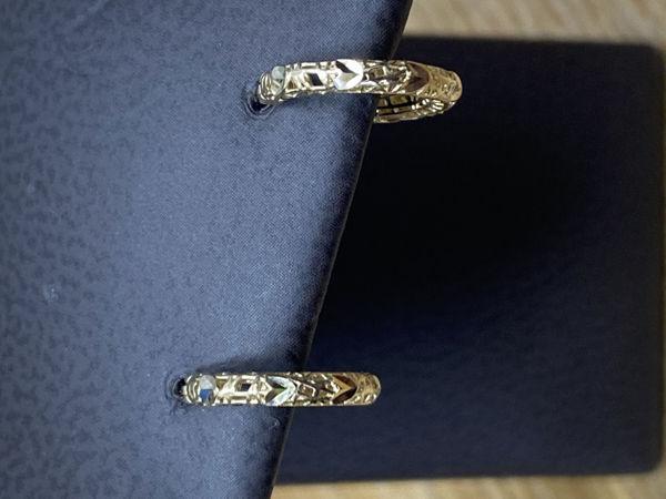 Picture of Floral Petite Hoop Earrings