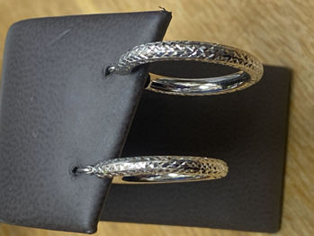 Picture of Diamond Cut Hoop Earrings