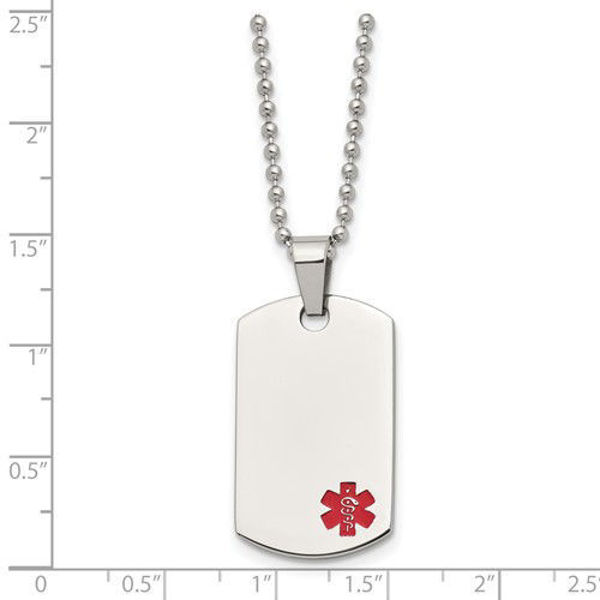 Picture of Small Dog Tag Medical Necklace