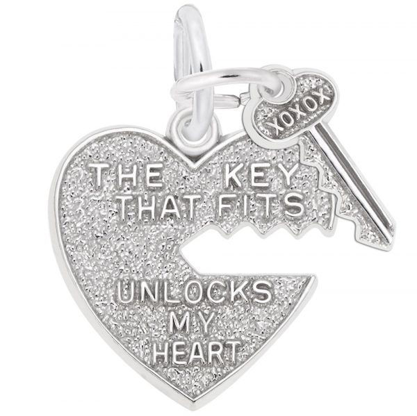 Picture of Key that Fits Heart Charm