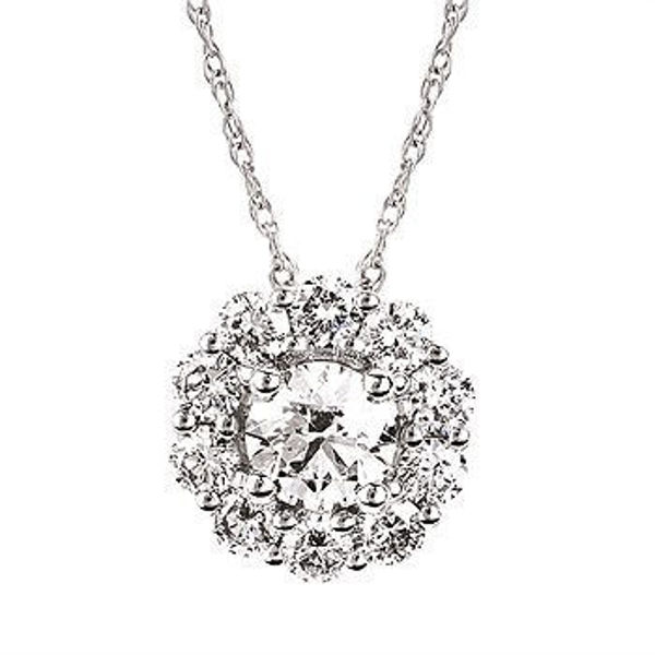 Picture of Eco-Brilliance® 1.00cttw. Lab-Created Diamond Halo Necklace