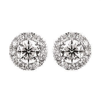 Picture of Eco-Brilliance® 2.00 Ctw. Lab-Created Diamond Halo Earrings