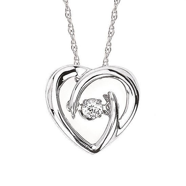 Picture of Shimmering Diamonds® Heart Necklace