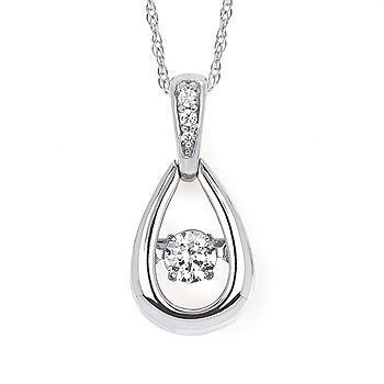 Picture of Shimmering Diamonds® Dangling Tear Drop Necklace