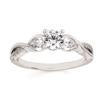 Picture of Barbara's Engagement Ring - Waiting for her Center Diamond