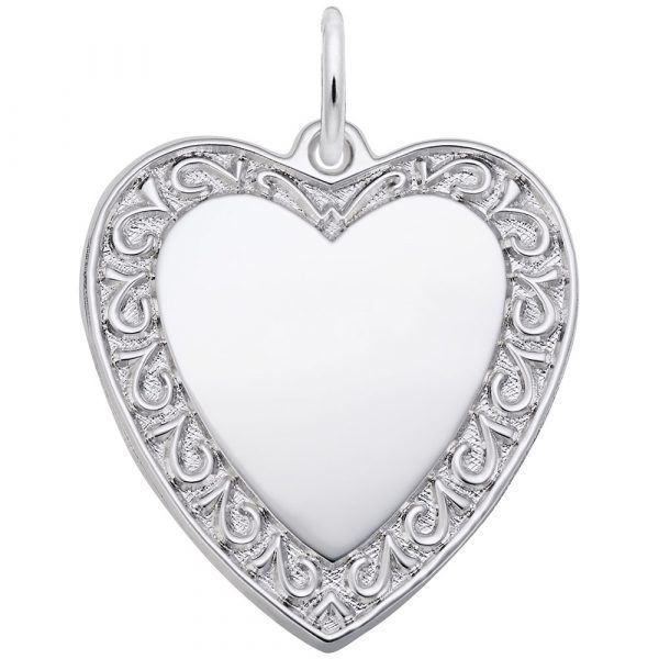 Picture of Scrolled Classic Heart Charm