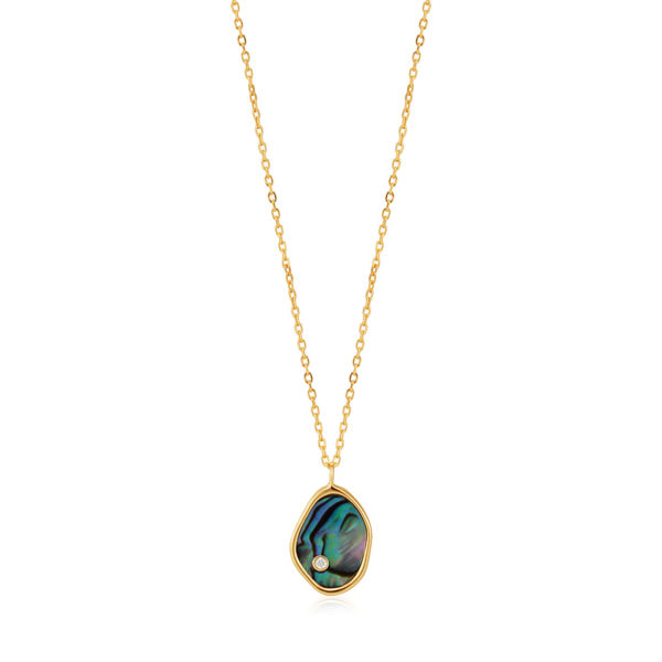 Picture of Gold over Sterling Tidal Abalone Necklace