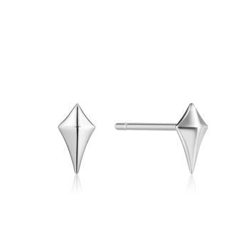 Picture of Silver Diamond Shape Stud Earrings