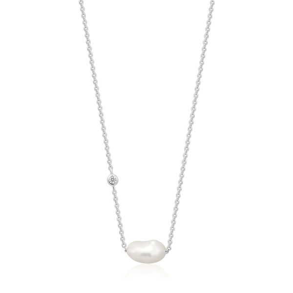 Picture of Silver Pearl Necklace