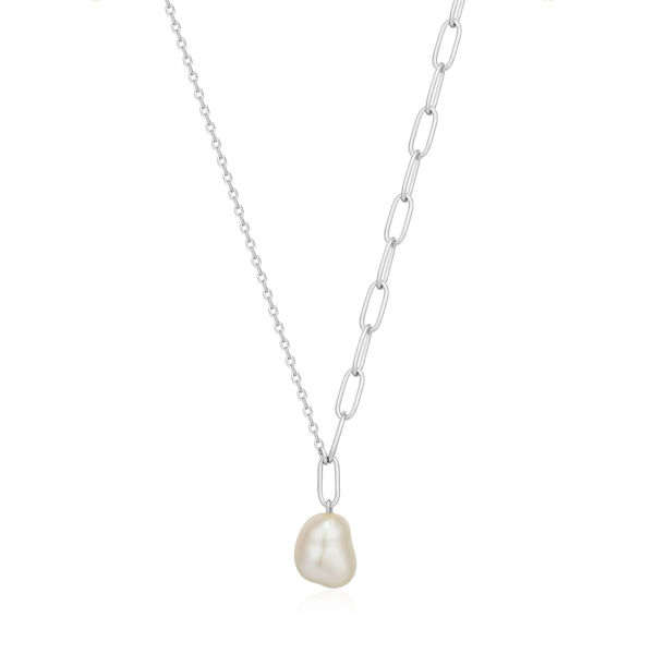 Picture of Silver Pearl Chunky Necklace
