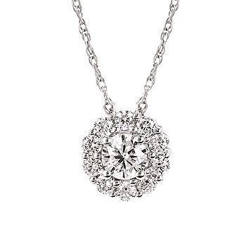 Picture of Eco-Brilliance® 1/2cttw. Lab-Created Diamond Halo Necklace