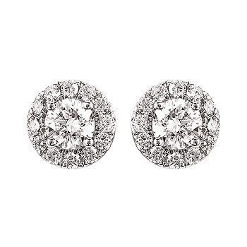 Picture of Eco-Brilliance® 1.50cttw. Lab-Created Diamond Halo Earrings