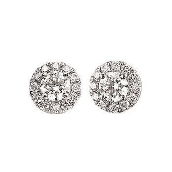 Picture of Eco-Brilliance® 1cttw. Lab-Created Diamond Halo Earrings