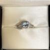 Picture of Aquamarine Halo Diamond Ring