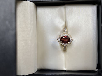 Picture of Winter of Love Garnet Ring