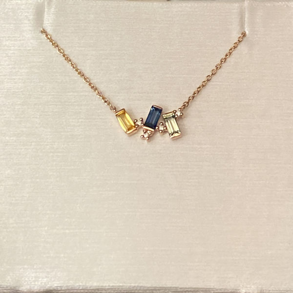 Picture of Blue, Green and Yellow Sapphire Necklace