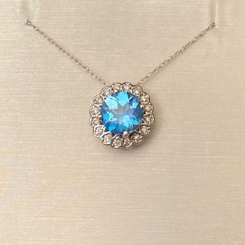 Picture of Vintage Inspired Halo in Blue Neckalce