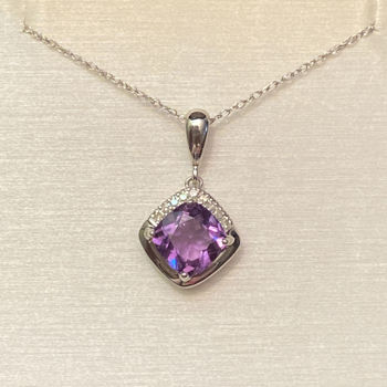 Picture of Amethyst and Diamond Necklace