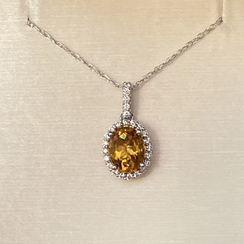 Picture of Citrine Halo Necklace
