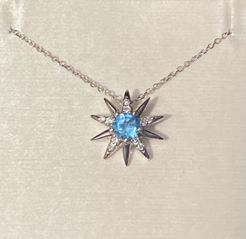 Picture of Christmas Star in Blue Necklace