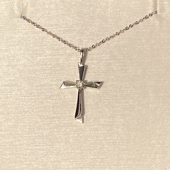 Picture of Diamond Accented Cross Necklace
