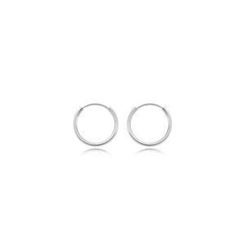Picture of 14kt White Gold Endless Hoops