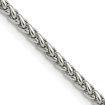 """Picture of STAINLESS STEEL 3.0MM WHEAT 24"""" CHAIN"""