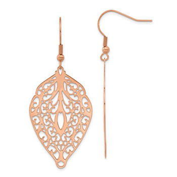 Picture of Mosaic Cut Out Rose Tone Dangles