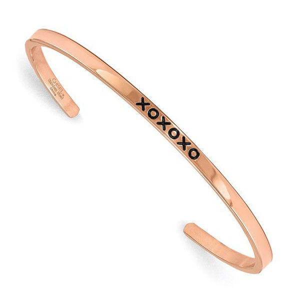 Picture of Rose Plated XOXOXO Bangle