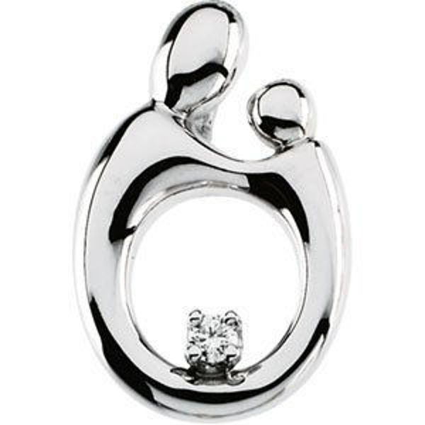 Picture of Mother & Child Diamond Necklace