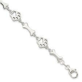 Picture of Dog Bones and Paws Bracelet
