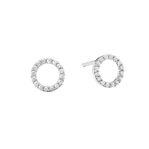 Picture of Halo Diamond Earrings
