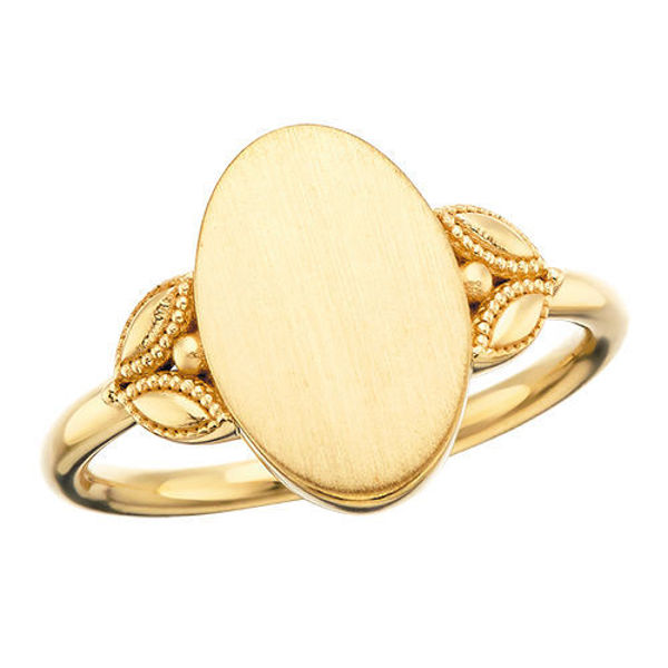 Picture of Oval Leaf Signet Ring