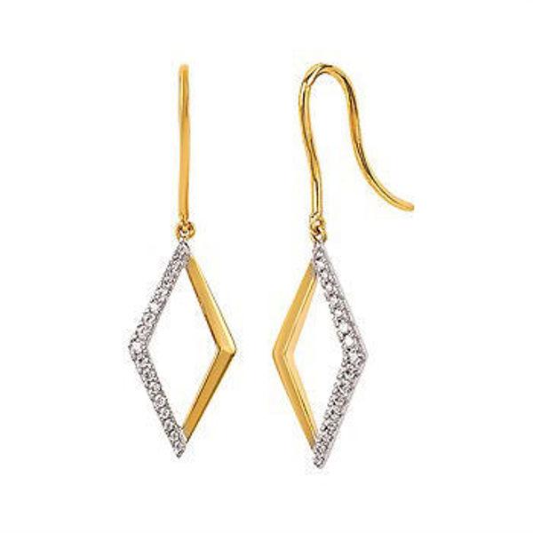 Picture of Diamond Drop Earrings