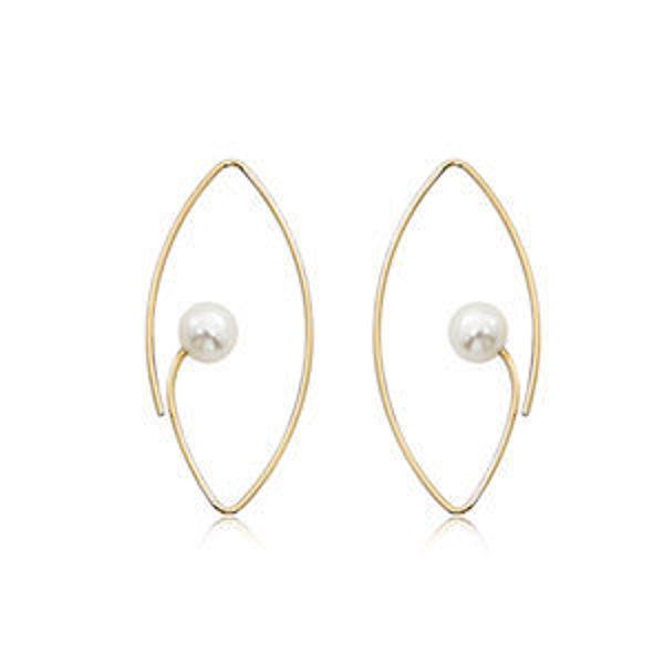 Picture of 14K Open Wire Pearl Earrings
